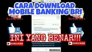Cara Download Mobile Banking Bri  Internet Banking+sms Banking  Resmi Yg Benar,