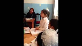 г. ГЯНДЖА  14 ШКОЛА,Открытый урок 2-д класса