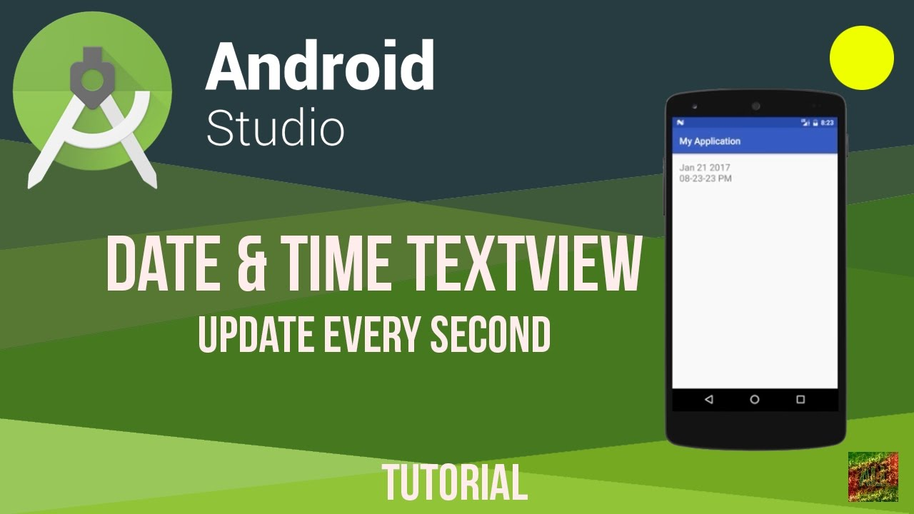 Android Studio Date & Time TextView Update Every Second Tutorial