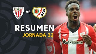 Resumen de Athletic Club vs Rayo Vallecano (3-2)