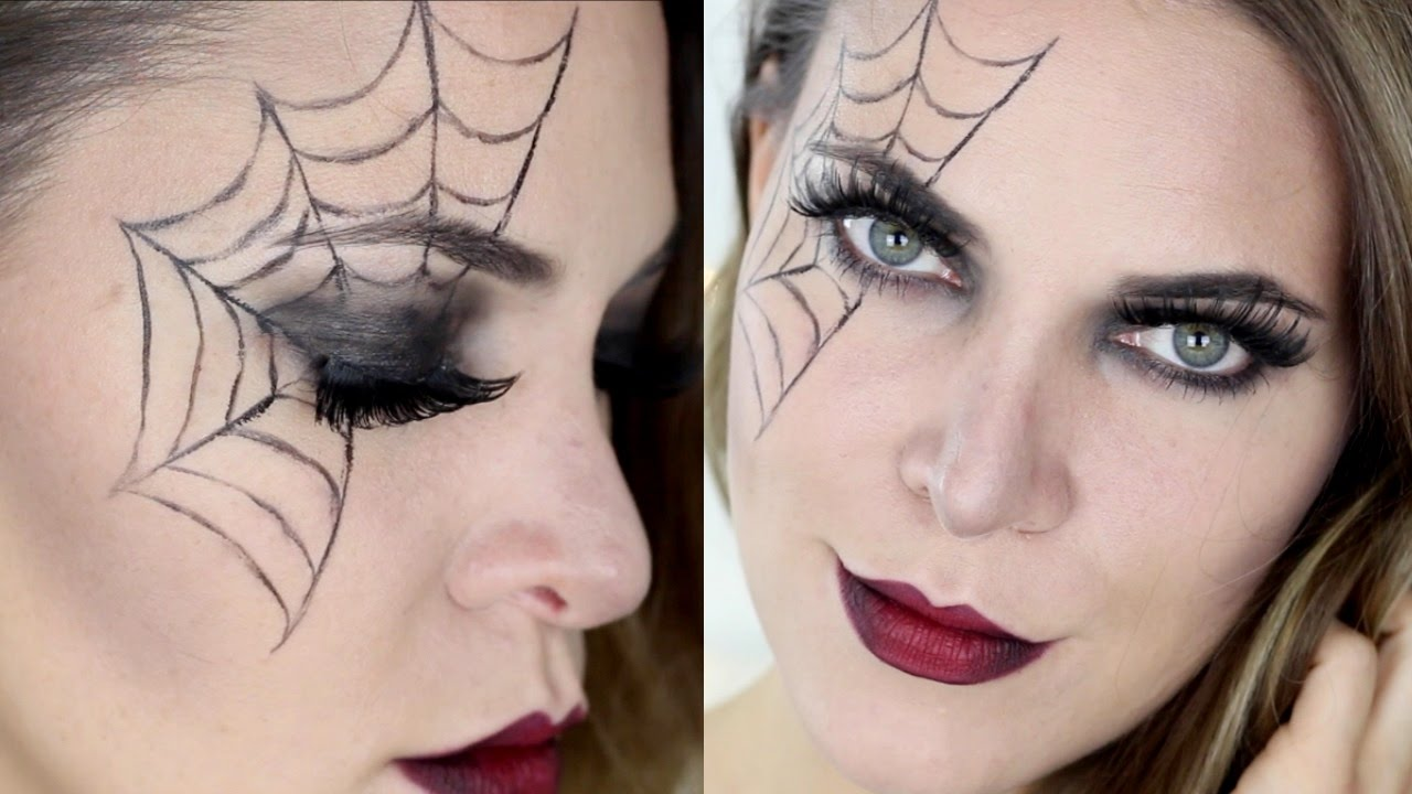 Last Minute Halloween Makeup Spinne Pia Pietsch Youtube
