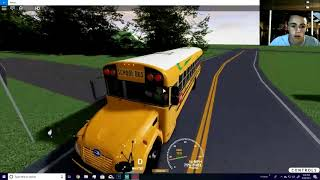 ROBLOX, SCHOOL BUS SIMULATOR! I BROKE THE BUS!