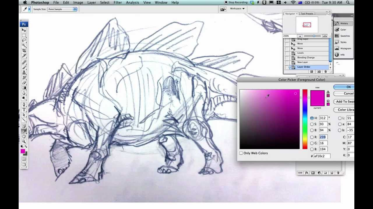 Color lineart in photoshop - How To Colour Scanned Lineart In Photoshop With Stegosaurs