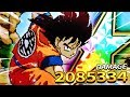 2 MILLION DAMAGE?! 100% RETRO GOKU SHOWCASE! DBZ Dokkan Battle
