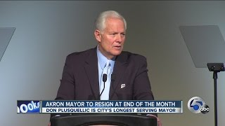 Akron Mayor Don Plusquellic stepping down after 28 years. Newschannel 5 at 11