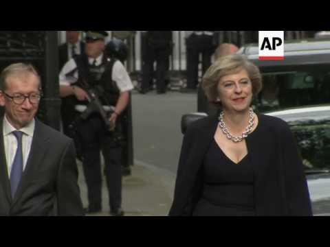 New PM Theresa May arrives at 10 Downing St