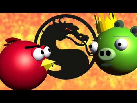 MORTAL KOMBAT Starring ANGRY BIRDS ♫ 3D Animated  Game Mashup ☺ FunVideoTV   Style ;