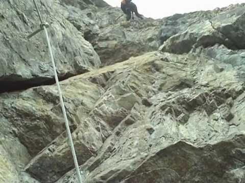 Klettersteig Tabaretta : Tabaretta klettersteig youtube