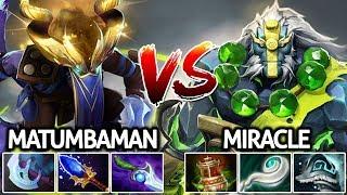 Matumbaman Riki VS Miracle Earth Spirit | Battle in Ranked China 7.21 Dota 2