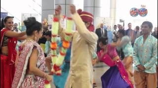 استعراض فرقة بوليود الهندية بمطار القاهرة ضمن فعاليات الهند على ضفاف النيل