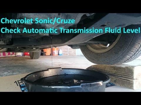 Chevrolet Sonic/Cruze - Check Automatic Transmission Fluid Level