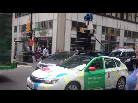 Google Maps Car Driving Through Manhattan Recording Images To Update on