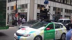Google Maps Car Driving Through Manhattan Recording Images To Update Google Street View & GPS