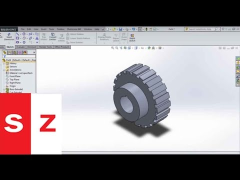how to draw a spur gear in solidworks