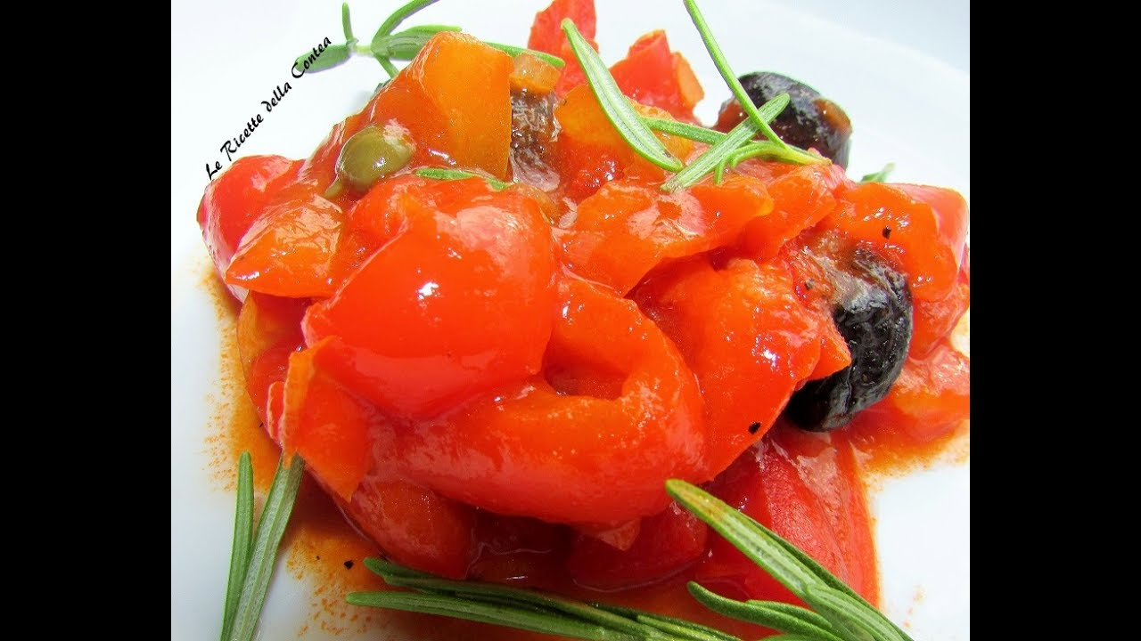 Come cucinare i peperoni ricetta peperonata siciliana youtube - Cucinare i peperoni ...
