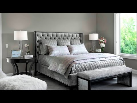 14 Glamour Silver Bedroom Designs Youtube