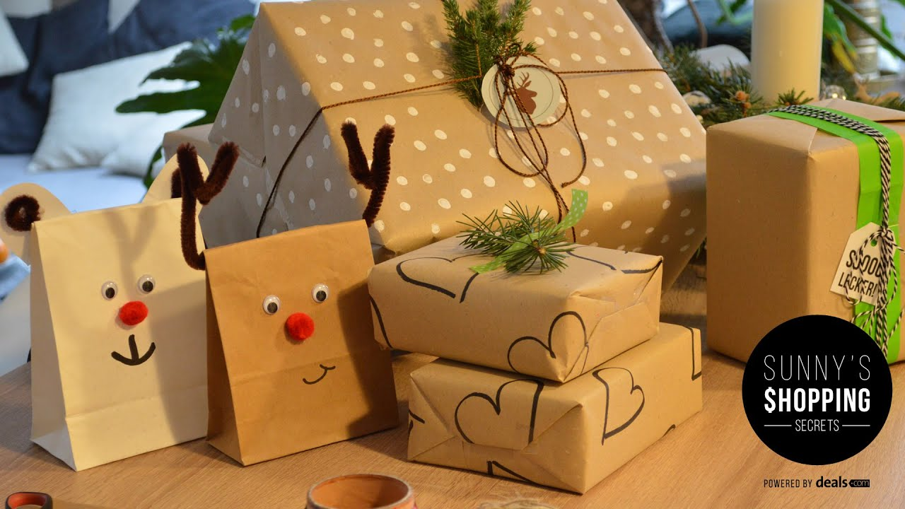 geschenke verpacken zu weihnachten sunny s shopping secrets youtube. Black Bedroom Furniture Sets. Home Design Ideas
