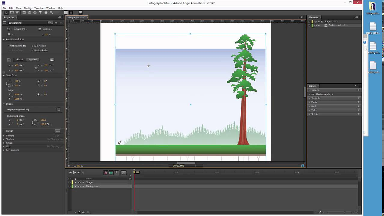 Create An Infographic In Edge Animate Cc Part I Youtube