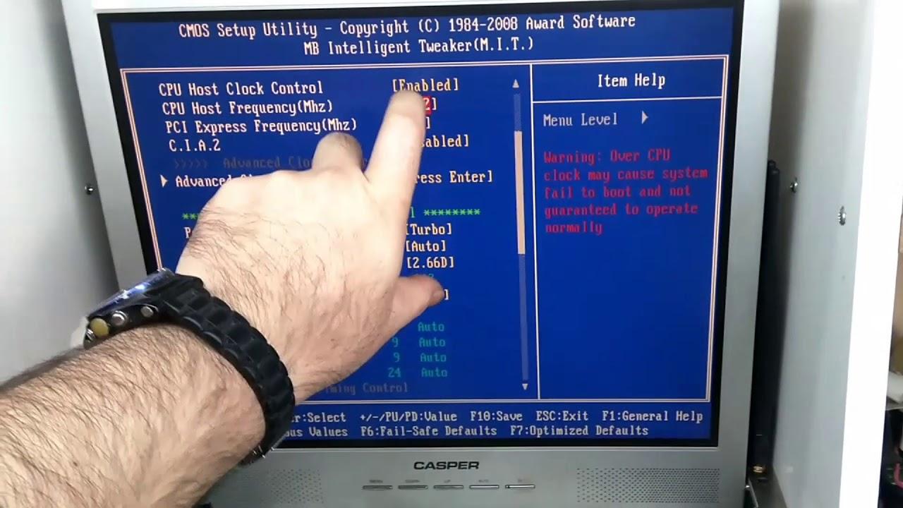 Intel Core 2 Duo işlemciyi hızaşırtmak için