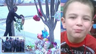 Cops Lay Wreath At Icy Pond Where 6-Year-Old
