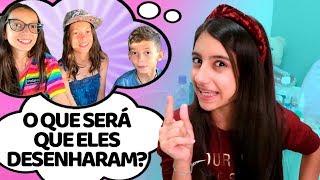 FAZENDO SLIME COM TUDO O QUE A FAMILYFUN5 DESENHOU ! - Julia Moraes
