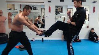 Upward Rear Front Kick - Board Breaking Kung Fu Challenge