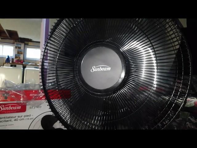 Ventilateur Sunbeam 16 po numérique