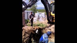 Монтаж УОСВ (установка отчистки сточных вод) БИОТАНК-4пр в ДНТ