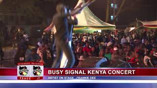 FRANKIE DEE AT BUSY SIGNAL FREE UP PEACE CONCERT