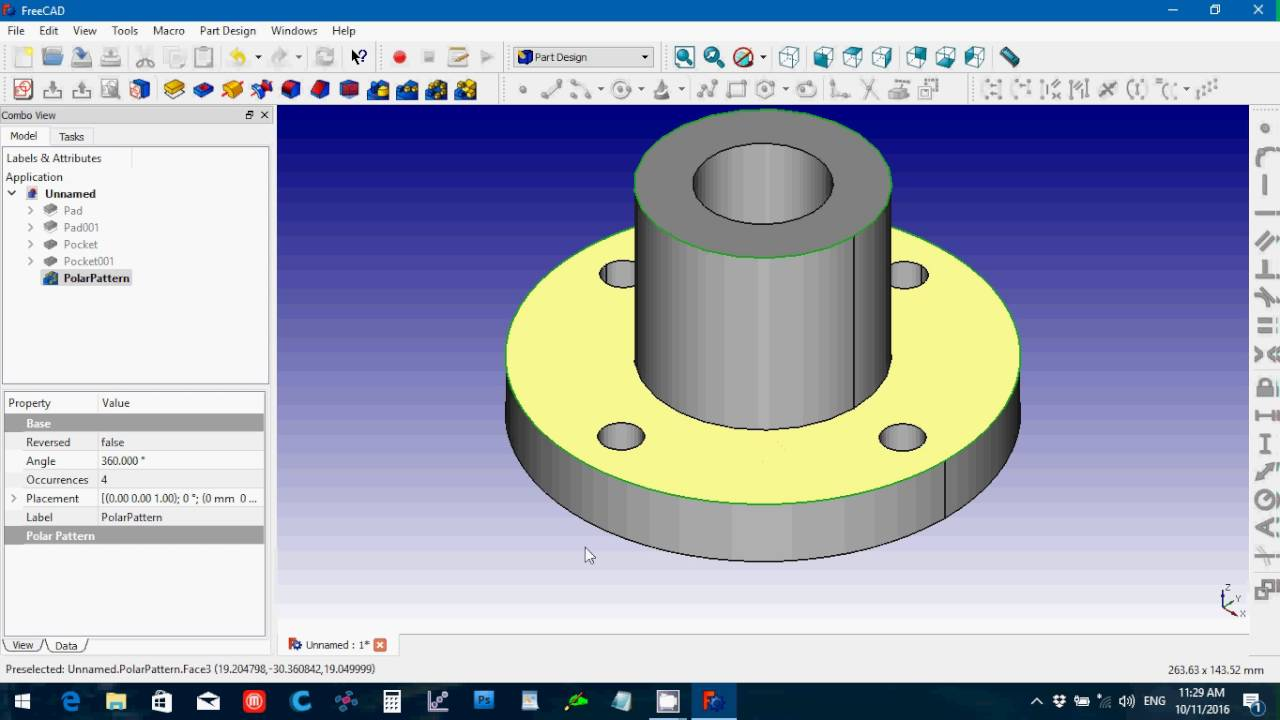Freecad flanges from solidworks book tutorial youtube Free drafting software for windows 10