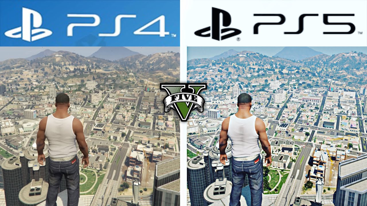 GTA V | PS4 VS PS5 Graphics and Loading Times | Comparison (4K 120FPS)