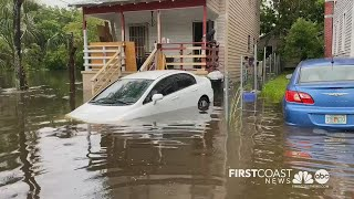 Areas of Jacksonville in Riverside and on the westside experienced excessive flooding Sunday