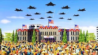 AMERICAN VICTORY PARADE - Troops Celebrate Liberation & Enemy Defeat | Command & Conquer: Generals