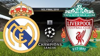 UEFA Champions League Final 2018 | Real Madrid vs Liverpool | FIFA 18 Gameplay, Highlights & Goals