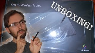 Unboxing the XP-Pen Star05 WIRELESS Art Tablet & Pen!