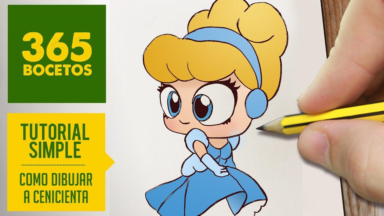 Como Dibujar A Cenicienta Dibujar Princesas Disney En Espanol