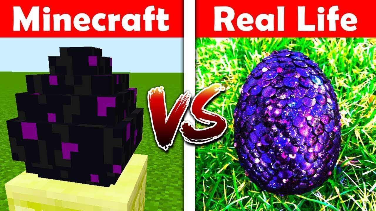 Minecraft Vs Real Life Minecraft Dragon Egg In Real Life