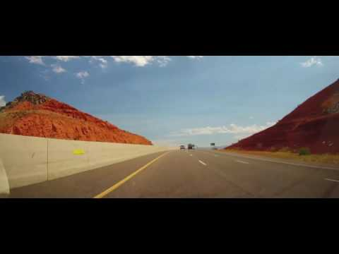 Driving on Interstate 15 in Utah from St. George to Filmore