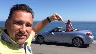 Обзор Infiniti G7 кабриолет. Прокат авто в Крыму(В нашей поездке в Крым в мае 2016 года мы взяли на прокат Infiniti G7 кабриолет. В данном видео небольшой обзор арен..., 2016-05-15T12:27:12.000Z)