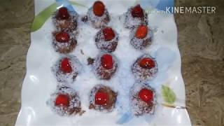 Choclate balls yummy Easy cooking with as