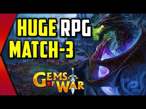 Gems Of War - BIGGEST RPG MATCH-3 MOBILE GAME WITH FANTASY STRATEGY ELEMENTS? | MGQ Ep. 305