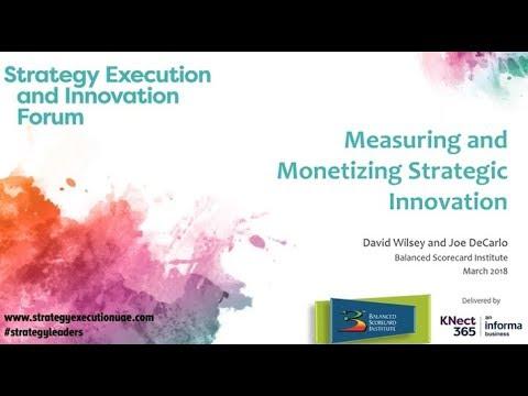Measuring and Monetizing Strategic Innovation