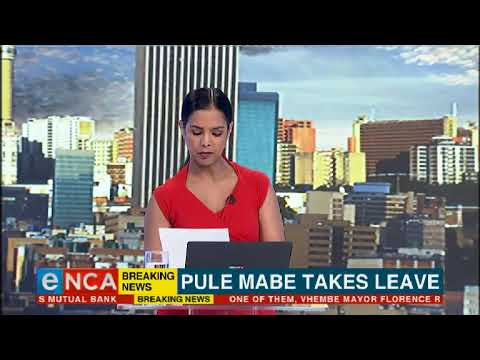ANC spokesperson Pule Mabe takes leave