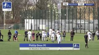 B-Junioren - SV Waldhof Mannheim vs. FC Astoria Walldorf 1-0 - Phillip Onos