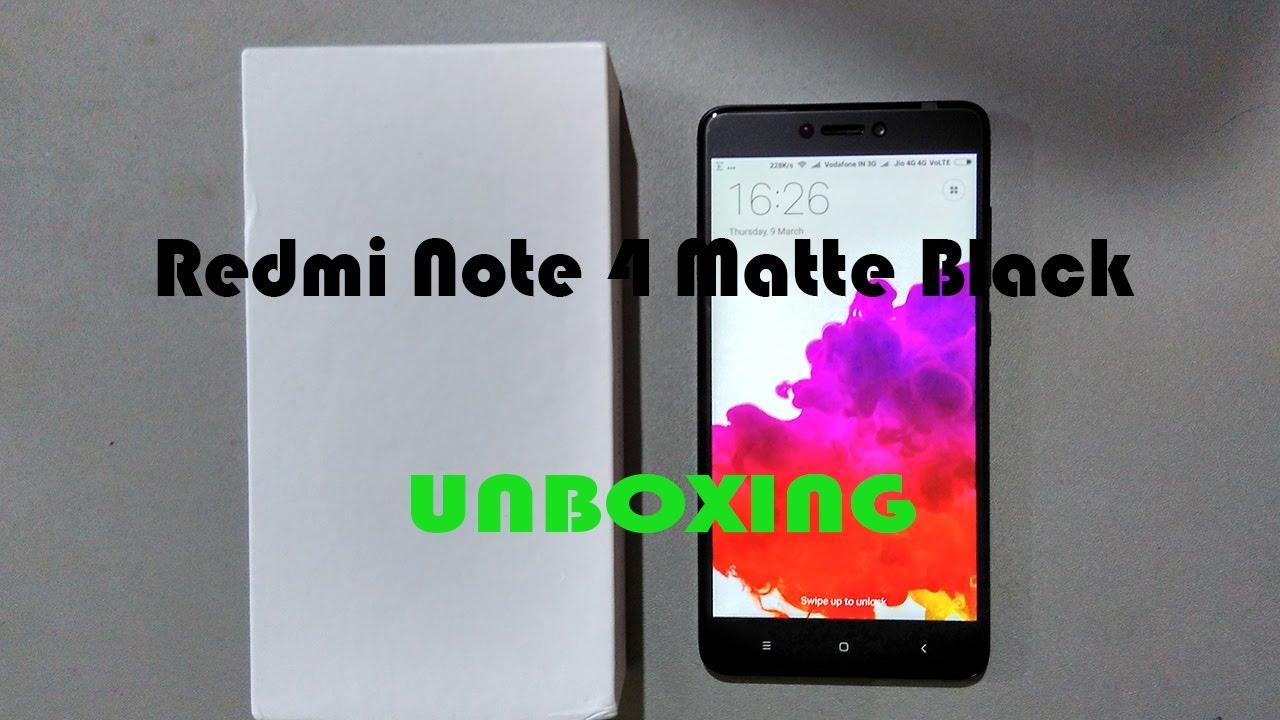 Redmi Note 4 Unboxing: Redmi Note 4 Matte Black 64 GB Unboxing