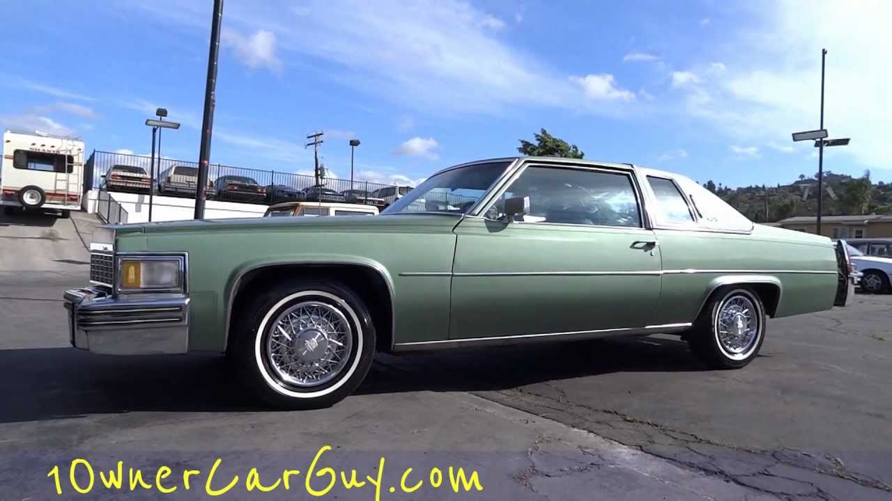 77 Cadillac Coupe De Ville Deville De Elegance 425 7.0L Big Block Walk Around Fleetwood Brougham - YouTube & 77 Cadillac Coupe De Ville Deville De Elegance 425 7.0L Big Block ... Pezcame.Com