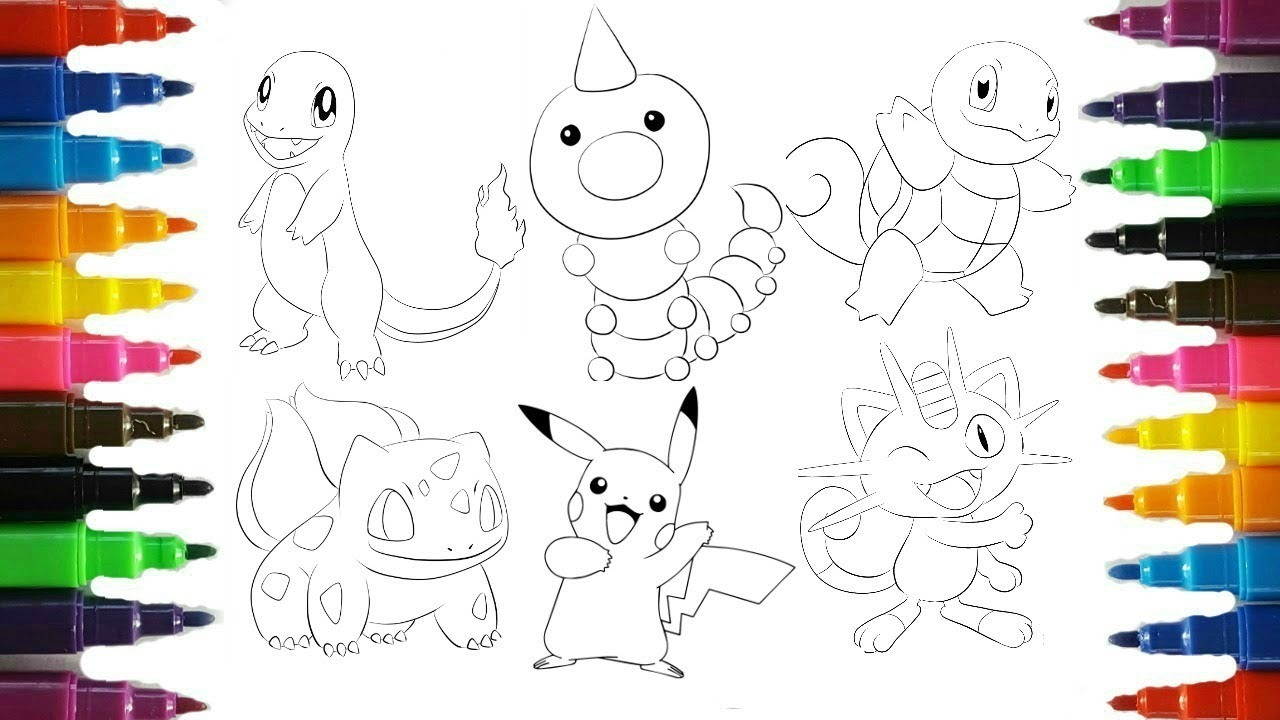 Pokemon Coloring Pages Pikachu and friends coloring book fun