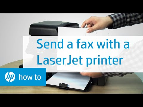 Sending a Fax Using an HP LaserJet Printer
