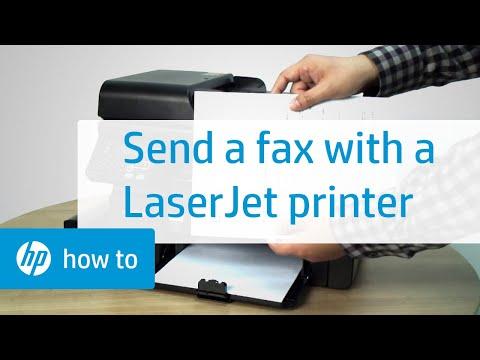 Sending a Fax Using an HP LaserJet Printer