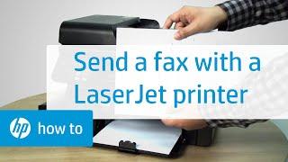 Sending a Fax Using an HP LaserJet Printer | HP